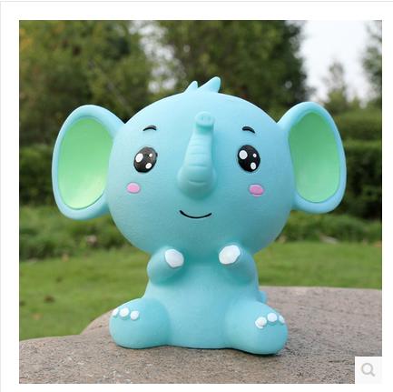 不怕摔创意可爱萌小象宝宝存钱罐 糖胶储蓄罐 六一儿童节礼物