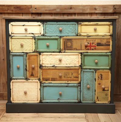 欧式玄关柜家具美式乡村风格斗柜宜家仿古地中海柜子复古做旧实木