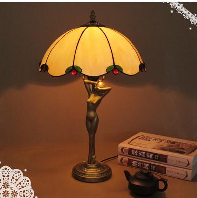欧式复古简约餐咖啡厅书房酒吧卧室睡房床头柜梳妆桌黄光台灯包邮