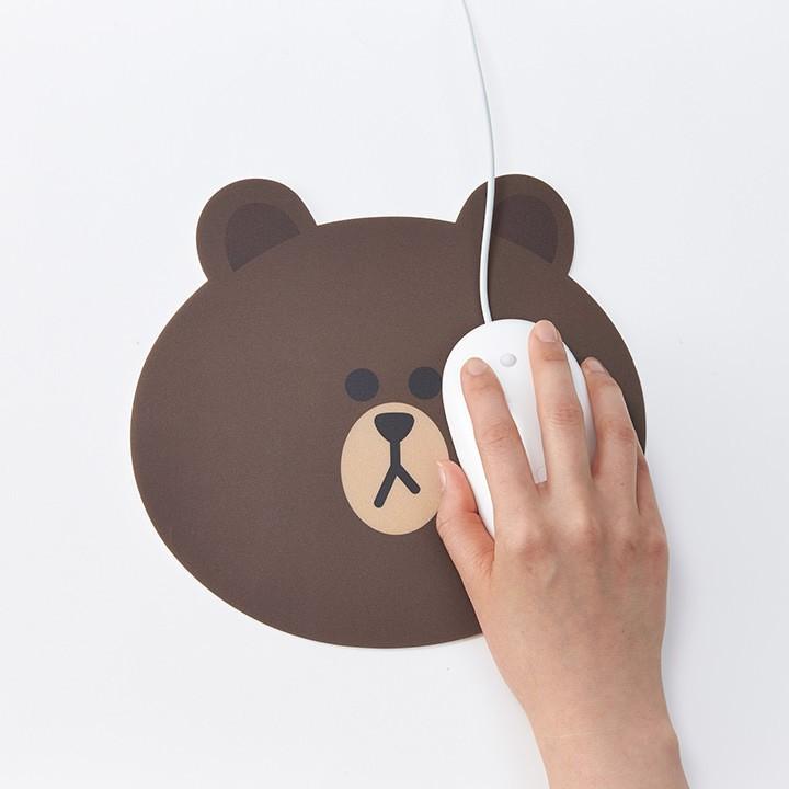 杭州现货 韩国line代购 可妮布朗莎莉詹姆士 鼠标垫鼠标垫 可爱
