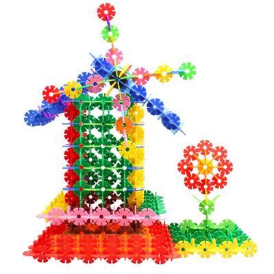 雪花片积木儿童益智玩具幼儿园塑料拼插插片积木