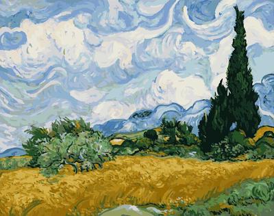 莫奈毕加索名家手绘画