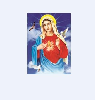 高清圣母圣心玛利亚耶稣圣心圣家3d立体画像天主教圣物25x35cm