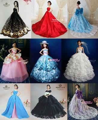 芭比娃娃裙子 芭比衣服婚纱礼服 专供外贸批发 常年有货可补货