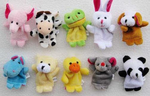 【小动物或是人物指偶 】讲故事好玩具小动物手偶指偶 整包不同款