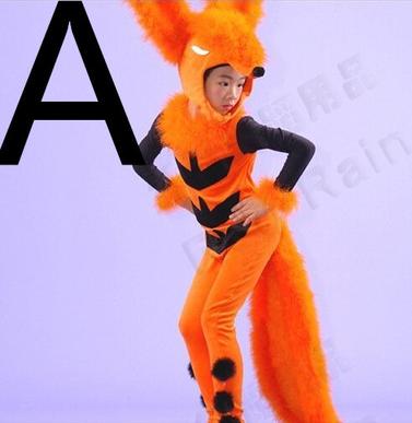 六一儿童动物造型演出服饰 小狐狸表演服 动物服装