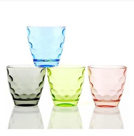 经典时尚彩色波点珠珠玻璃杯茶杯复古耐热水杯家庭套装果汁泡茶杯