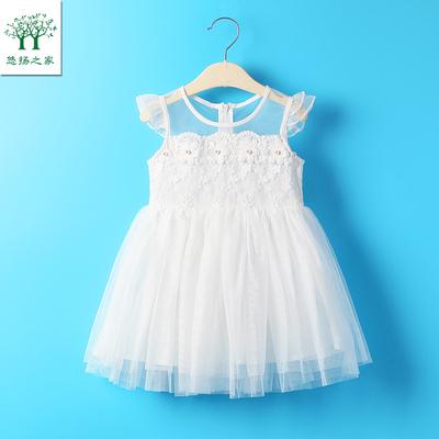 夏装一二3三4四岁儿童女孩女童小童婴儿公主裙子