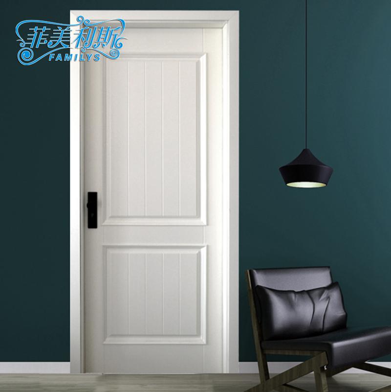 欧式室内门田园风格卧室门平开门方形门定制实木门指接木门烤漆门