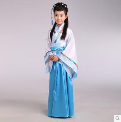 女童汉服古代汉唐朝女古装仙女儿童乐器古筝舞蹈唐装女表演出服装