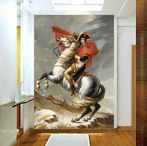 定制大型无缝壁画 玄关走廊过道酒店欧式油画背景墙壁纸 拿破仑