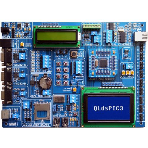 乾龙盛qldspic3 pic单片机综合开发板-16位开发板