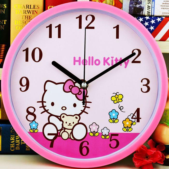 静音挂钟客厅创意简约时钟儿童卡通钟表康巴丝时尚卧室现代石英钟