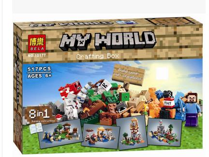 博乐我的世界玩具积木