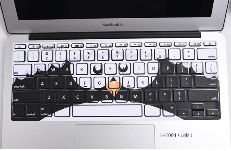 苹果macbook air键盘保护贴纸 mac pro retina可爱带框贴膜11 13