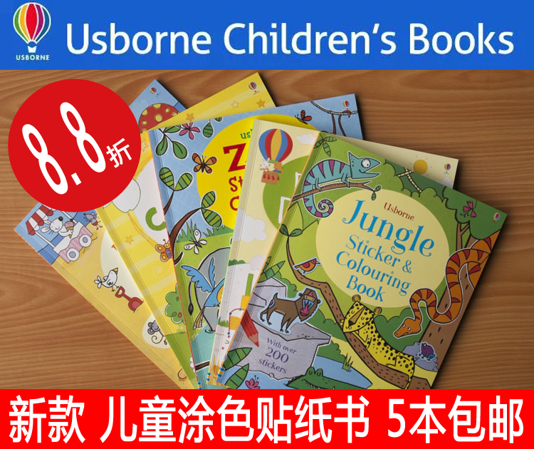 ԭ��Usborne�¿�Colouring and Sticker Book��ͯ�Tɫ�N�������