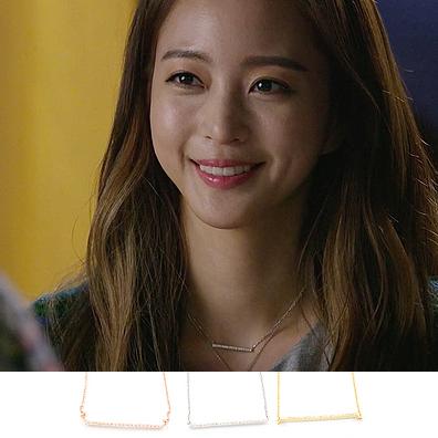 韩国代购进口美女的诞生韩艺瑟莎拉单排钻一字锁骨项