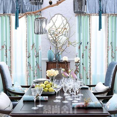现代中式欧式地中海风格窗帘家具布艺软装设计素材
