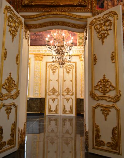 欧式装饰门 影楼拍摄道具 精致双层雕花浮雕门