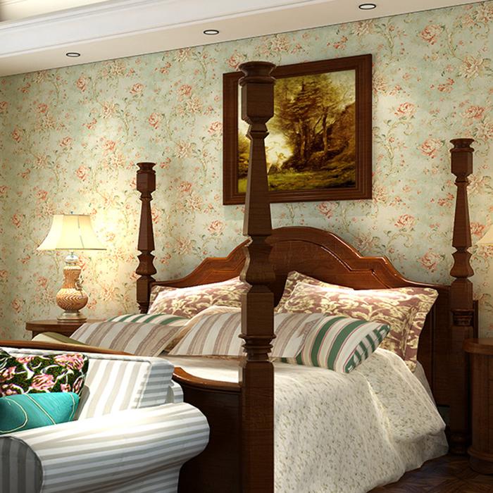 美式复古砖搭配墙纸图片