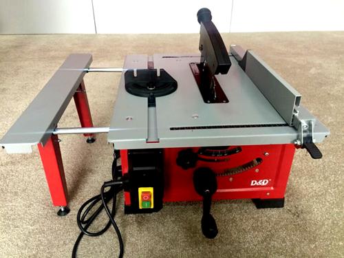 地恩地台式多功能小型木工台锯裁板机45度家用木工锯