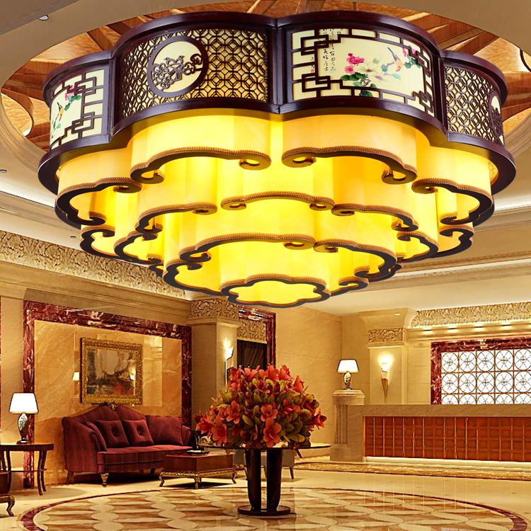 中式大吊灯 客厅灯仿古酒店茶楼工程羊皮灯餐厅大厅