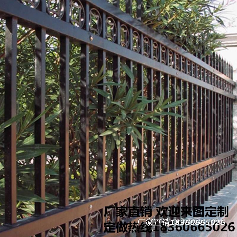 热镀锌护栏小区工厂别墅庭院围墙围栏户外室外铁栅栏