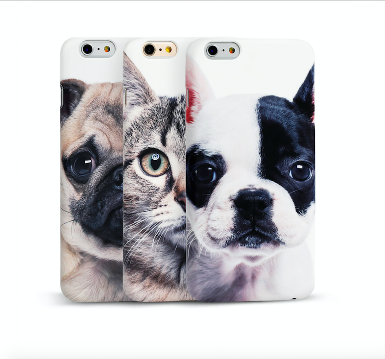 独家定制可爱宠物狗斗牛犬猫咪苹果6s手机壳iphone6plus动物硬壳