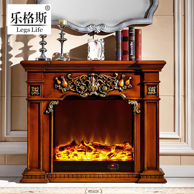 欧式壁炉装饰柜实木壁炉架雕花壁炉柜子简约客厅家具