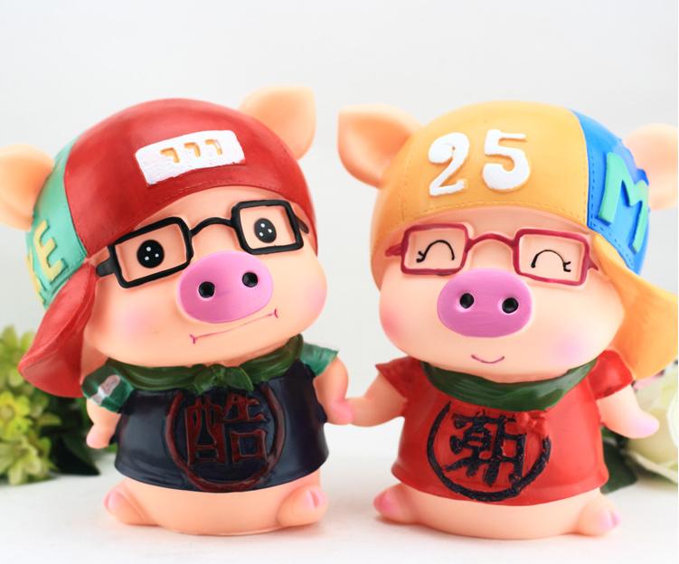 防摔创意存钱罐大号卡通小猪猪储蓄罐可爱储钱罐儿童