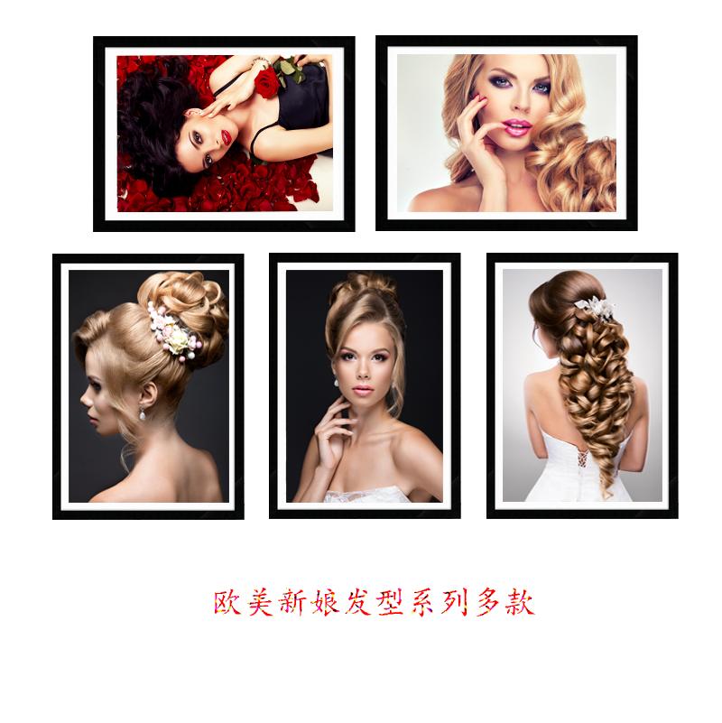 欧美新娘发型装饰画金发美女性感现代简约高清艺术海
