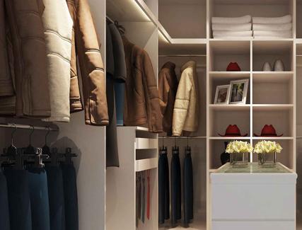 家装现代衣帽间3d模型 更衣室换衣间装修3dmax模型设计素材效果图