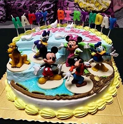 米奇米老鼠场景儿童卡通满月周岁宝宝生日蛋糕店深圳