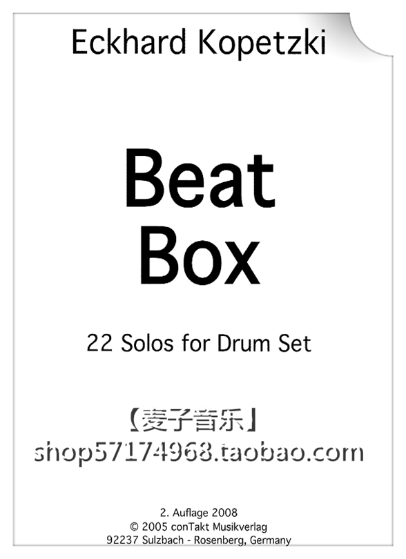 beat box 22 solos for drum set 22首架子鼓独奏solo【谱】