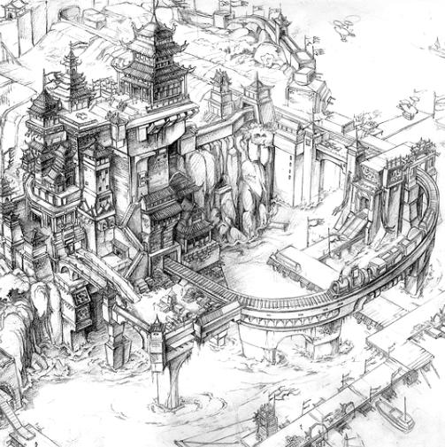 动画日本动漫游戏cg 场景草图 速写 临摹素材 电子图片182张