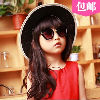 2016儿童墨镜新款女孩时尚可爱太阳镜女童蛤蟆镜潮女大童太阳眼镜