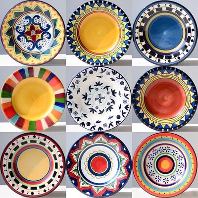 创意手绘盘子陶瓷 平盘