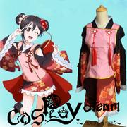taobao agent 现货lovelive蛋糕矢泽妮可妖怪觉醒和服cosplay nico全套女服装