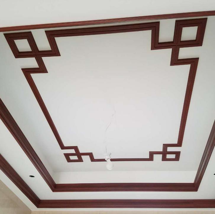 欧式装饰材料天花吊顶pu线条仿红木平线65021