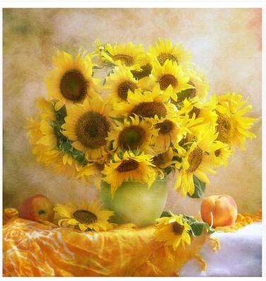 欧式油画向日葵