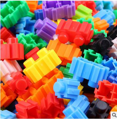 拼插拼装桌面益智玩具 儿童百变积木塑料