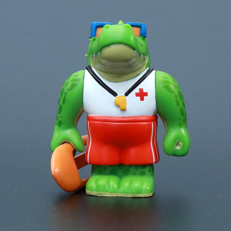 伊芙蕾雅外设店英雄联盟泳池派对鳄鱼手办q版公仔摆件lol礼物玩具