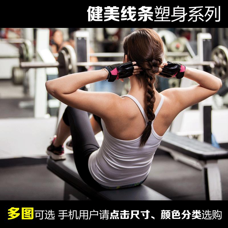 肌美女健身房挂画减肥励志