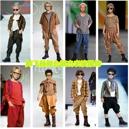 男童模特走秀服装t台舞台服饰时尚潮流走秀演出舞台