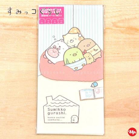 日本正版香港代购角落生物信封竖版日式和风赠送贴纸可爱创意红包