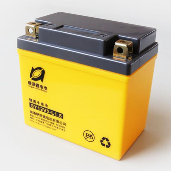 包邮12v摩托车电瓶 摩托车锂电池12v5ah免维护锂电池图片