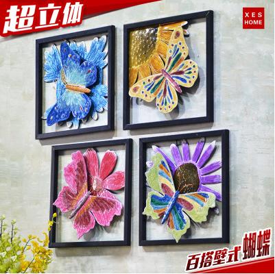 创意家居铁艺壁饰蝴蝶墙饰客厅墙上装饰品房间墙壁挂