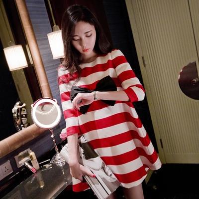2016春装新款孕妇装韩版宽松大码娃娃装孕妇连衣裙