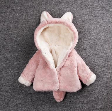 新款婴幼儿童冬装女宝宝女童加厚棉衣外套毛毛衣可爱