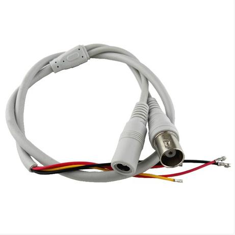 监控模拟五芯线 视频电源线5芯防水线bnc连接线 摄像机头灯板尾线